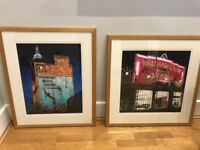 For Sale - Two Beautifully Framed Stuart Free's Paintings - 'Hornsey Baths V' + 'Walthamstow Dogs'