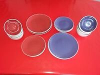 Red and Purple plates/bowls