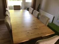 Dining table 8-10 seater