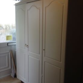 White coloured wardrobe