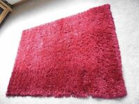 NEW - large, dark red shaggy rugs, 160cm x 230cm - 4 available