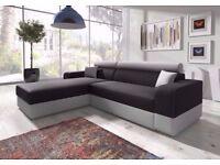 🔥💥SUPER COMFY AND STYLISH💛NEW ITALIAN CORNER SOFA FABRIC SOFA BED WITH STORAGE SLEEPER or 3seater