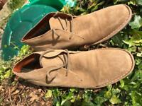 REDTAPE MENS SUEDE LEATHER DESERT BOOTS