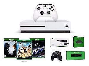 BRAND NEW-Xbox One S + 2 Wireless Controller + Kinect + 3 Games