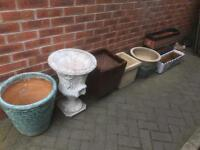 Garden pots and statues