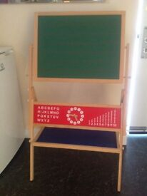 As new , chalk and white board.