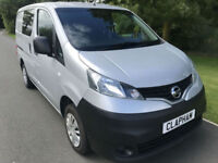 2014 14 NISSAN NV200 CREW VAN SILVER 1.5 DCI 90 BHP 1 OWNER ANY UK DELIVERY