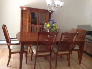 Dining Room Table 6 Chairs And Matching China Cabinet