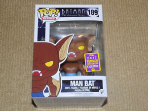 FUNKO POP MAN BAT, ANIMATED BATMAN, 2017 SUMMER CONVENTION EXCLU
