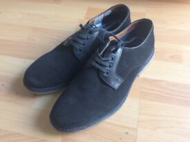 Men's black suede shoes. Size 10. Topman.