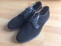 Men's black suede shoes. Size 10. Topman.