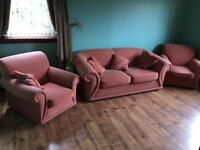 2 seater sofa + 2 single chair