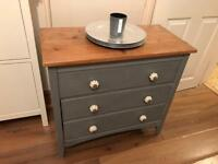 Beautiful Grey Solid Wood Chest of Drawers