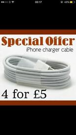 iPhone charger 4-£5