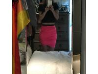 DESIGNER By Malene Birger Hot Pink Twist Pencil Skirt - RRP £118.00
