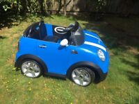 Kids electric car - Mini Cooper S - with 2 x 12v kid TraX batteries and charger