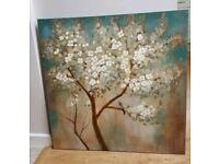 Bird and blossom canvas