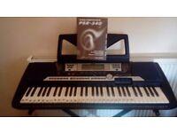 Yamaha PSR 540 keyboard, Stand and 12 keyboard books quick sale £120