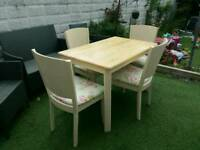BEAUTIFUL SHABBY CHIC STYLE DINING TABLE AND 4 CHAIRS