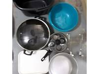 Cooking utensils and dishes
