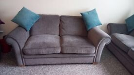 Grey 3 Seater Fabric Sofas x 2 £600 for both