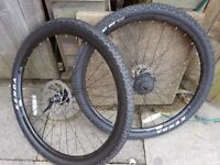 New 29inch front back wheels 8 cog new tyres and inner tubes