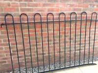 7 X Black garden iron railings
