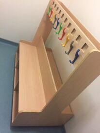 Childrens 20x coat hook and shoe storage unit