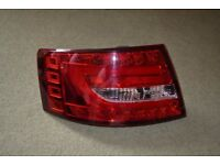 Audi A6 4F C6 04-08 LED Back Rear Tail Lights Pair Set Clear Red 6 Pin
