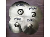 "Paiste 101 Universal Brass Cymbal Pack (14"" 16"" 20"") with Crash Stand"