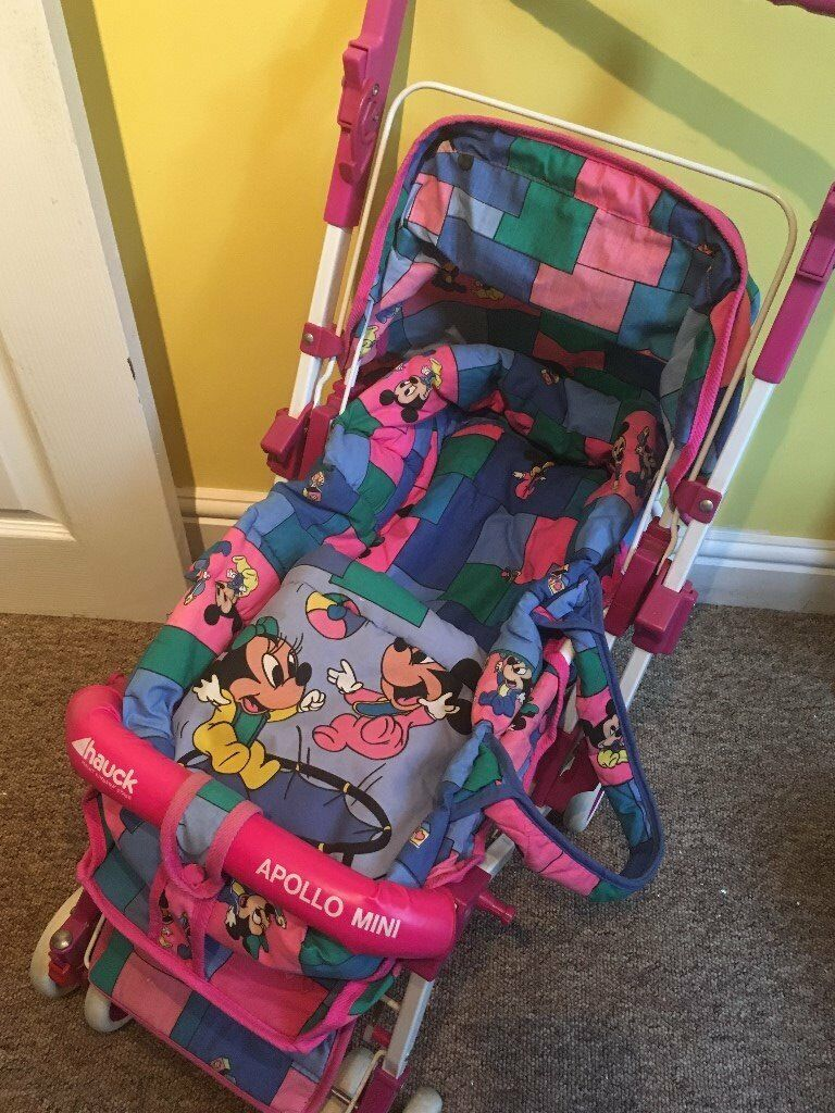 Vintage Mickey Amp Minnie Mouse Hauck Dolls Pushchair