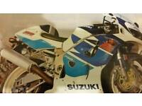 Suzuki gsxr750srad injection full bike breaking for spares