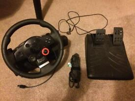 PS3 steering wheel and pedals