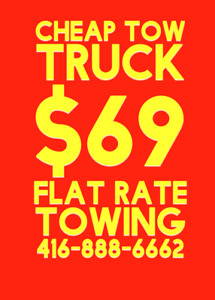 $69 FLAT RATE TOWING ROADSIDE ASSISTANCE WITHIN MISSISSAUGA 24/7