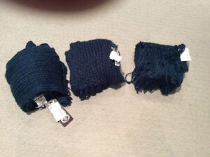 3 Brand New Super soft navy blue scarf