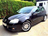 **IMMACULATE** 2007 GOLF GT TDI SPORT 2.0 TDI 170 BHP 3 DOOR BLACK MANUAL
