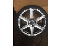 Four Brio 6 alloy wheels and very good tyres