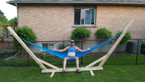 Mexican Hammock with man made hammock stand