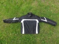 Men's Black Frank Thomas Motorcycle Jacket and Trousers