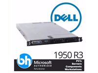 Dell PowerEdge 1950 4GB RAM Quad Core Xeon X5460 3.16 GHz SATA Rackmount Server 2 x PSU 2 x 73GB SAS