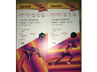 IAAF Athletics World Championships 2*tickets Face Value Monday 7th August 2017 Laura Muir in 1500m