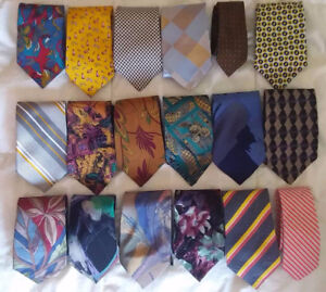 Silk ties / cravattes soie $5