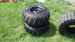 2 pneu 4 snow zipper avec rim 2 pneu a clou maxxis vtt razr