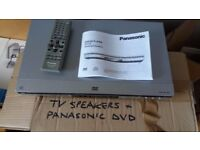 Panasonic DVD/CD S35 and two loud speakers all cables/remote