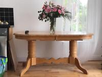 Mexican Pine Extendable Table