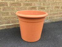 Large Garden Plastic Pot and Plastic Troughs