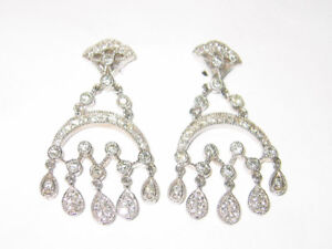 Diamond earrings - 15% OFF! WITH OFFICIAL APPRAISAL REPORT