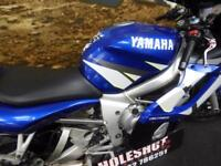 Yamaha R6 sports bike Yoshimura exhaust pipe