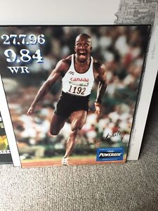 Plaqued Poster Donovan Bailey