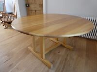 Solid ash dining table, made by Treske, in superb condition